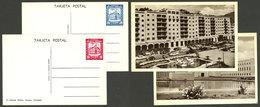 VENEZUELA: 2 Postal Cards Of 10c. And 20c. Illustrated On Back: Military School And El Silencio, VF Quality! - Venezuela
