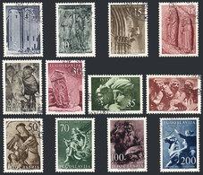 YUGOSLAVIA: Yvert 680/691, 1956 Art, Cmpl. Set Of 12 Used Values, VF Quality, Catalog Value Euros 80 - Non Classés