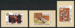 ZAIRE: Sc.971/3, 1980 Rotary (art), Compl. Set Of 3 Values Printed On Small IMPERFORATE SHEETS, Excellent Quality, Rare! - Autres - Afrique