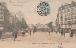 ***  75  ***  PARIS  La Gare De L'Est Colorisée TB Précurseur  - - Métro Parisien, Gares
