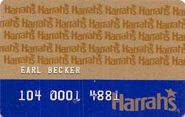 Harrah's Casino Multi-Property 1a Issue Slot Card With 1-800-522-4700 Gambling Problem# & No HAR1 - EMBOSSED - Casino Cards