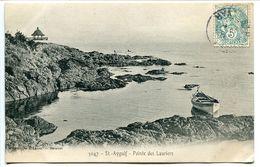 CPA 1906 - SAINT St AYGULF Pointe Des Lauriers ( Bateau Barque Genre De Kiosque Au Fond ) Voyagé - Saint-Aygulf