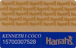 Harrah's Casino Multi-Property 1a Issue Slot Card With 1-800-522-4700 Gambling Problem# & No HAR1 - PRINTED - Casino Cards