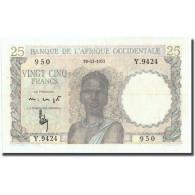 Billet, French West Africa, 25 Francs, 1952, 1952-12-19, KM:38, SUP - États D'Afrique De L'Ouest
