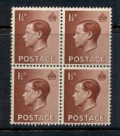 GB 1936 KEVIII Portrait 1.5d Blk 4 MUH - Zonder Classificatie