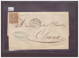 LETTRE AVEC No ZUMSTEIN 30 - 1862-1881 Helvetia Assise (dentelés)