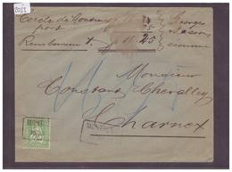 LETTRE AVEC No ZUMSTEIN 40 - 1862-1881 Helvetia Assise (dentelés)