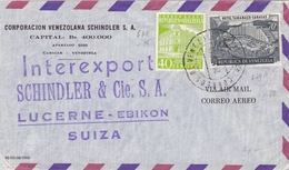Lettre Caracas 1959 Venezuela Corporacion Venezolana Schindler S.A. Lucerne Suisse Suiza - Venezuela