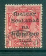 Ireland 1922 1d Scarlet Provisional Opt. Blk Dollard FU Lot78363 - 1922-37 Irish Free State