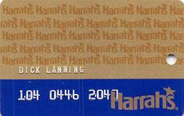 Harrah's Casino Multi-Property 1b Issue Slot Card With HAR1 & 1-800-522-4700 Gambling Problem# - EMBOSSED - Casino Cards