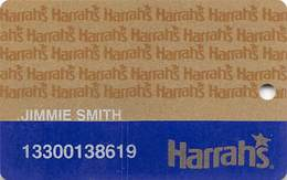 Harrah's Casino Multi-Property 1b Issue Slot Card With HAR1 & 1-800-522-4700 Gambling Problem# - PRINTED - Casino Cards