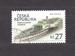 Czech Republic 2016 Gest ⊙ Mi 875 Paddle Steamer Vysehrad. Raddampfer. - Used Stamps