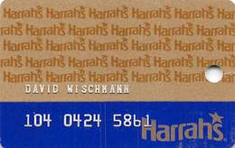 Harrah's Casino Multi-Property 1c Issue Slot Card With 1-800-GAMBLER & 3rd Line Ends 'is' - EMBOSSED - Casino Cards