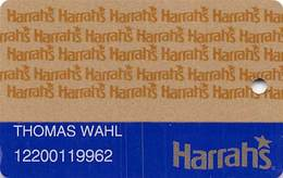 Harrah's Casino Multi-Property 1c Issue Slot Card With 1-800-GAMBLER & 3rd Line Ends 'is' - PRINTED - Casino Cards
