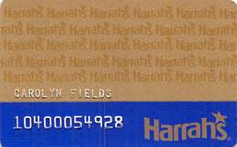 Harrah's Casino Multi-Property 1d Issue Slot Card With 1-800-GAMBLER & 3rd Line Ends 'card' - Casino Cards