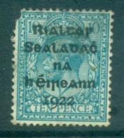 Ireland 1922 10d Turquoise Provisional Opt. Blk Dollard Spacefiller MH Lot78385 - Oblitérés
