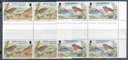 Isle Of Man 1980 Xmas, Wildlife Conservation, Birds Blk4 MUH - Isle Of Man