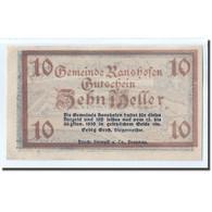 Billet, Autriche, Ranshofen, 10 Heller, Paysage 1, 1920, SPL, Mehl:819Aa - Autriche