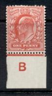 GB 1902-11 KEVII Portrait 1d Scarlet MLH - Ohne Zuordnung