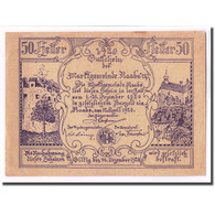 Billet, Autriche, Raabs N.Ö. Marktgemeinde, 50 Heller, Château, 1920 - Autriche