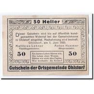 Billet, Autriche, Ohlstorf, 50 Heller, Village, 1920, 1920-06-01, SPL, Mehl:708i - Autriche