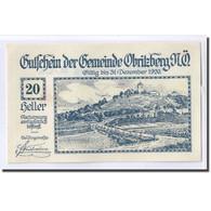 Billet, Autriche, Obritzberg, 20 Heller, Valeur Faciale 1, 1920, SPL, Mehl:701a - Autriche