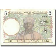 Billet, French West Africa, 5 Francs, 1936, 1936-03-12, KM:21, SUP - États D'Afrique De L'Ouest