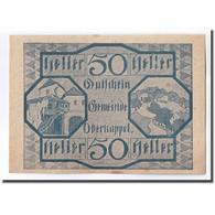 Billet, Autriche, Oberkappel O.Ö. Gemeinde, 50 Heller, Texte 2, 1920, SPL - Autriche