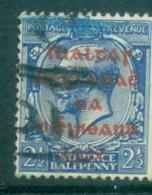 Ireland 1922 2.5d Blue Provisional Opt. Red Dollard FU Lot78388 - 1922-37 Irish Free State