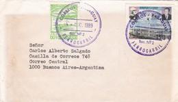 SOBRE ENVELOPE CIRCULEE PARAGUAY A ARGENTINA 1989, 2 DIFERENTES TIMBRES - BLEUP - Paraguay