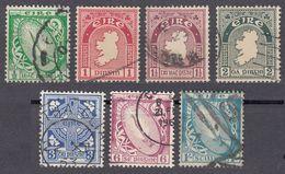 IRLANDA - IRLANDE - EIRE - 1922/1924 - Lotto 7 Valori Obliterati: Yvert 40, 41, 42, 43, 45, 48 E 51. - 1922-37 Stato Libero D'Irlanda