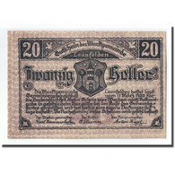 Billet, Autriche, Leonfelden O.Ö. Marktgemeinde, 20 Heller, Paysage 1, 1920 - Autriche