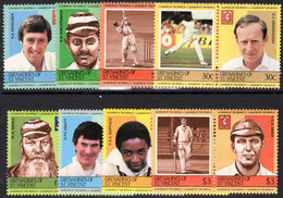 St Vincent Grenadines 1984 Cricketers Unmounted Mint. - St.Vincent & Grenadines
