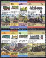 St Vincent Grenadines 1986 Railway Locomotives (6th Series) Unmounted Mint. - St.Vincent & Grenadines