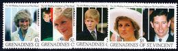 St Vincent Grenadines 1991 Princess Of Wales Wedding Anniversary Unmounted Mint. - St.Vincent & Grenadines