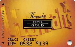 Harrah's Casino Multi-Property - 7th Issue Total Gold Slot Card With Signature Strip - Casino Cards