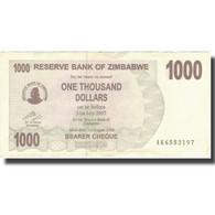 Billet, Zimbabwe, 1000 Dollars, 2007, 2007-07-31, KM:44, TTB+ - Zimbabwe