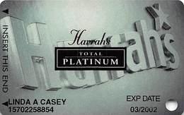 Harrah's Casino Multi-Property - 7th Issue Total Platinum Slot Card With Signature Strip - Casino Cards