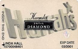 Harrah's Casino Multi-Property - 7th Issue Total Diamond Slot Card With Signature Strip - Casino Cards