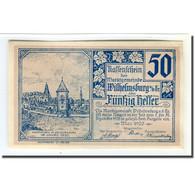 Billet, Autriche, Wilhelmsburg N.Ö. Marktgemeinde, 50 Heller, Blason 2, 1920 - Autriche