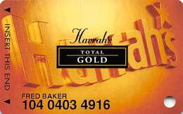 Harrah's Casino Multi-Property - 8th Issue Total Gold Slot Card Without Signature Strip - Casino Cards