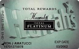 Harrah's Casino Multi-Property - 9th Issue Total Rewards Total Platinum Slot Card - Casino Cards