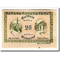 Billet, Autriche, Waidendorf N.Ö. Gemeinde, 20 Heller, Personnage 1, 1920, SPL - Autriche