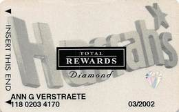 Harrah's Casino Multi-Property - 10th Issue TR Large Hologram Diamond Slot Card - No Date & No Sig. Strip - Casino Cards