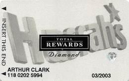 Harrah's Casino Multi-Property - 10th Issue TR SMALL Hologram Diamond Slot Card - No Date & No Sig. Strip - Casino Cards