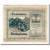 Billet, Autriche, Hallstatt, 50 Heller, Blason, 1920, 1920-04-01, SPL, Mehl:345 - Autriche