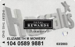 Harrah's Casino Multi-Property - TR Diamond Slot Card @2001 Without Signature Strip - Casino Cards