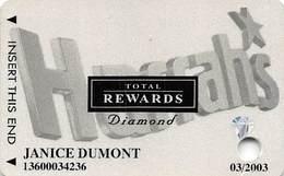 Harrah's Casino Multi-Property - TR Diamond Slot Card @2001 With 5 Casino Logos - Casino Cards
