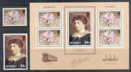 Jersey 1986 Lillie Langtree, Flower Gala + MS MUH - Jersey