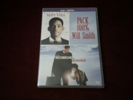 WILL SMITH  2 FILM  ° SEPT VIES + A LA RECHERCHE DU BOHNEUR - Romantique